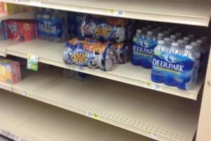 bare shelves
