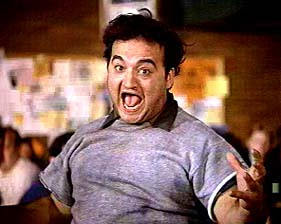 John Belushi calls for a food fight in Animal House