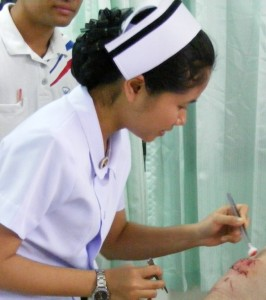 Nurse in action