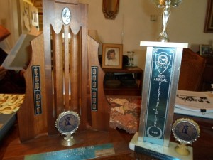 Some of Tulie's trophies