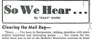 """So We Hear ..."" column banner title"
