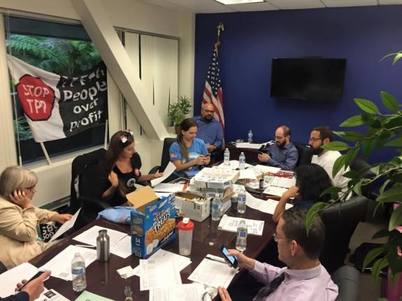 Kali Katt, Gretchen Newsom, Brian Polejes and Tyler Burgraff at Congressman Scott Peters 52nd CD District Office.  Photo via Nate Fairman Facebook