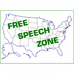 Free Speech Zone graphic