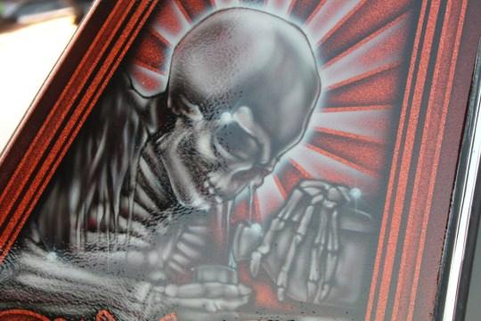 David Saavedra airbrush artwork on a lowrider