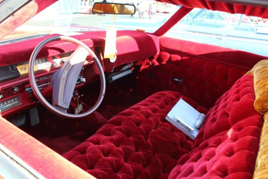 Interior of Switch Car Club lowrider
