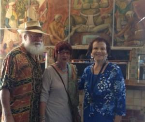 SDFP editors Rich Kacmar and Anna Daniels, Maria Garcia