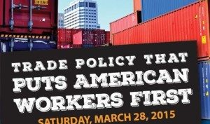 AFLCIO Banner on TPP