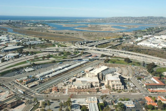 San Diego I-5 and I-8 freeway interchange