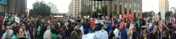 Rally at the civic center plaza, via Facebook