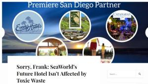 Orca Acion Network blog graphic disputing OB Rag's coverage of SeaWorld's hotel viability