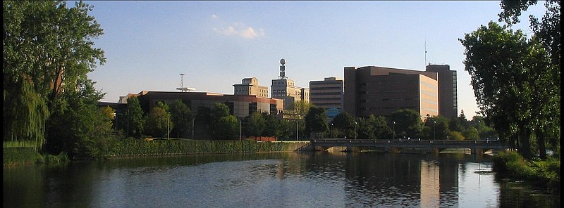 Flint Skyline with Flint River