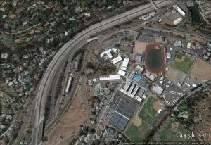 Grossmont High School near I-8 in La Mesa CA – Google Earth