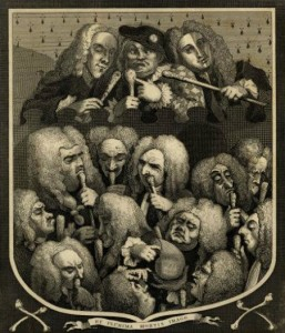 Hogarth engraving: The Company of Undertakers