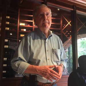 The Senate leader at brunch in the USVI