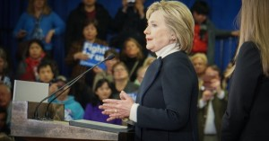 Hilary Clinton on 2016-02-09 at Presidential Campaign New Hampshire USA