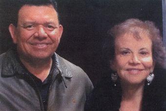 Fernando Valenzuela and author, Maria Garcia