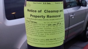 clean up notice