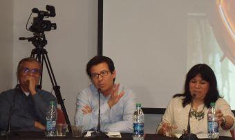 Panelists Richard Santillan, Dr. Jose Alamillo, Ana Bermudez