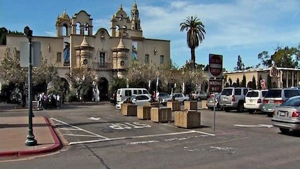 Plaza de Panama as a parking lot (from San Diego Metro)