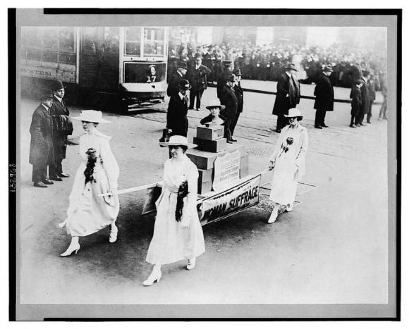 suffrage parade 1915