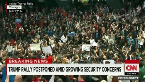 trump rally postponed