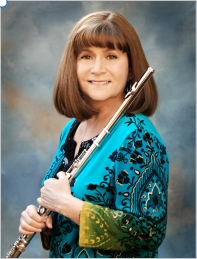 Lori Bell holding flute