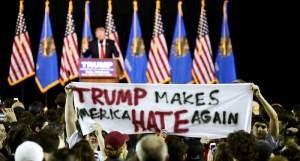 trump hate banner