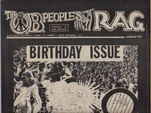 1972: Early History of the OB Rag – Ocean Beach's Underground Newspaper