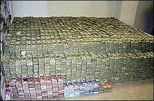 DEA Photo of seized money