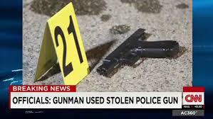 stolen police gun
