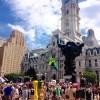 Scene outside of the 2016 DNC convention, Philadelphia