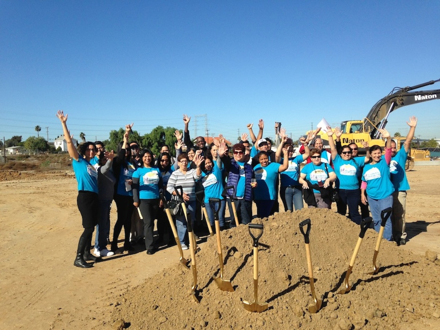 Environmental Health Coalition members at groundbreaking for National City affordable housing