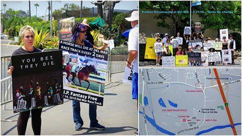 Del Mar protest