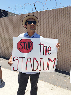 DJ Bob Green wants to stop the stadium.