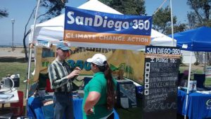 Mark Hughes volunteering with SanDiego350 at Harborfest in Chula Vista climate