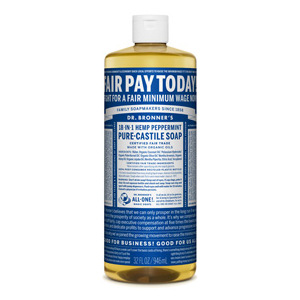 Dr. Bronner's Fair Wage peppermint soap