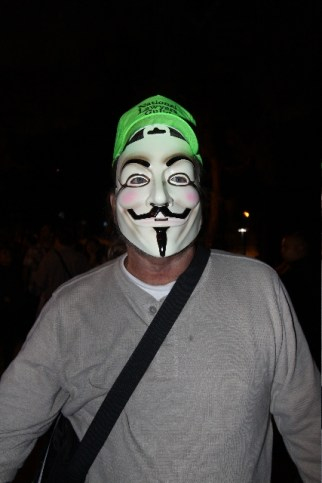 Anonymously, Frank. Photo by Brittany Bailey occupy wall street