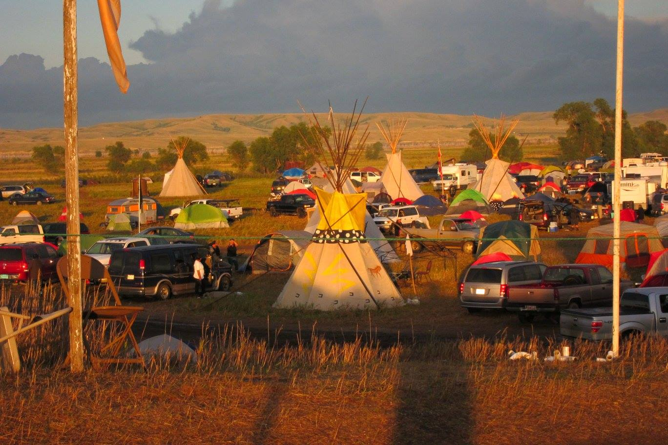 Part of the Oceti Sakowin (main camp)