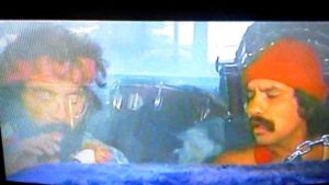 Are I driving okay? I think we're parked, man. Cheech & Chong via Youtube