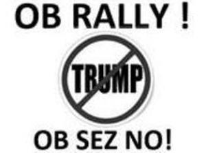 ob anti-Trump rally