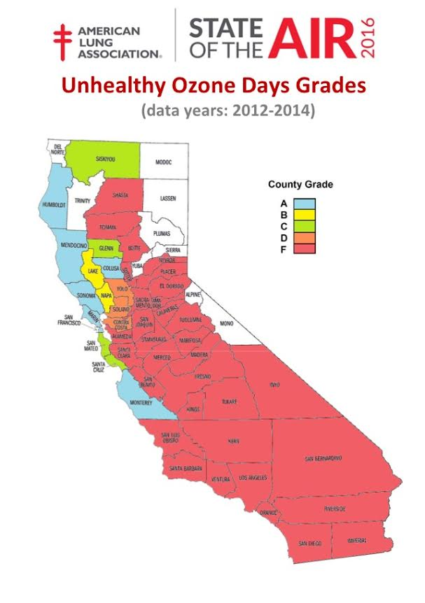 Why Does San Diego Have Such Bad Air Quality - 2017 map of air pollution in us