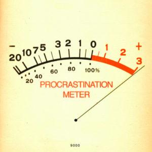 procrastinating -meter