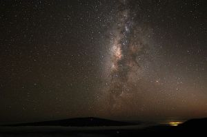 Mauna Kea night time view with Milky Way