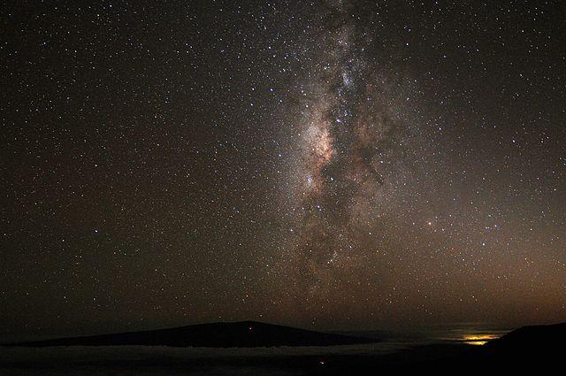 Mauna Kea night time view with Milky Way Human Supremacism