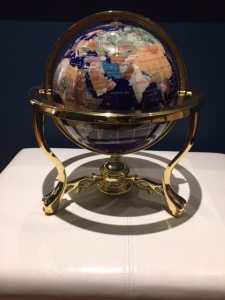 Globe in stand