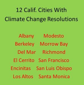 List of cities with climate change resolutions