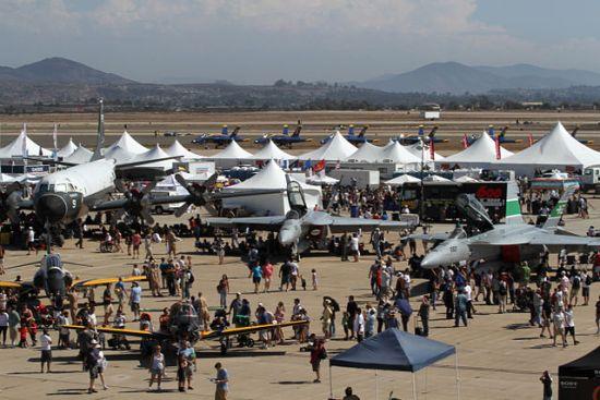 Aircraft on display at the MCAS Miramar Air Show.