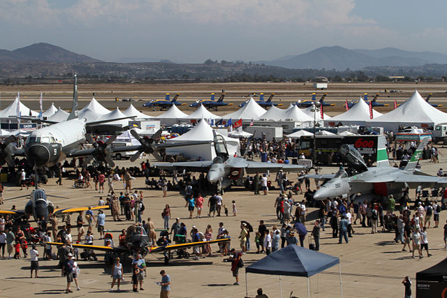 Aircraft on display at the MCAS Miramar Air Show.