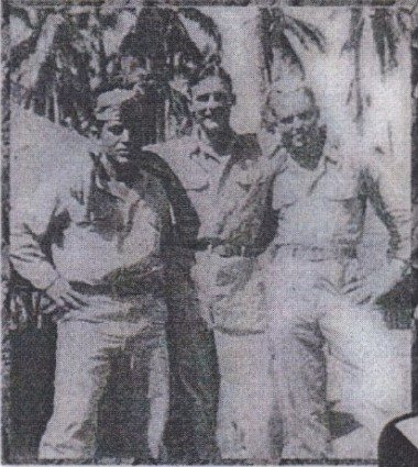 Three men in Army uniform