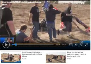 Counter-Protest at Pro-Border Wall Rally Was an Embarrassment